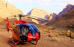 Grand Canyon Skywalk Getaway with Helicopter and Boat Tour