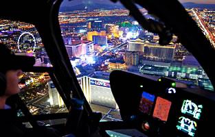 Strip Highlights Helicopter Night Flight